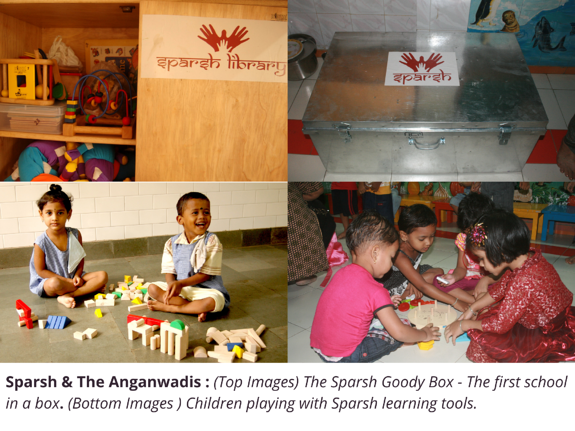 Children Playing with sparsh learning tools