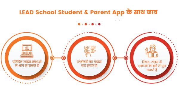 LEAD School Student & Parent App के साथ छात्र