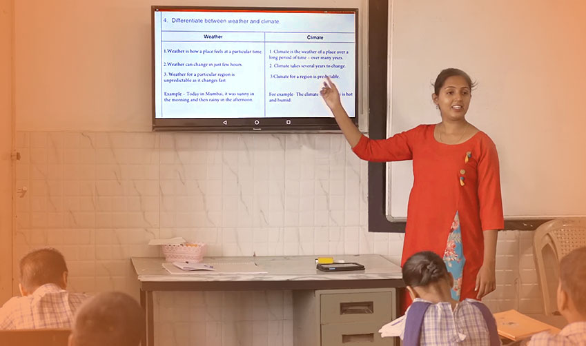Smart boards in classrooms