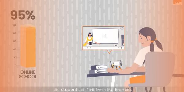 Child studying online