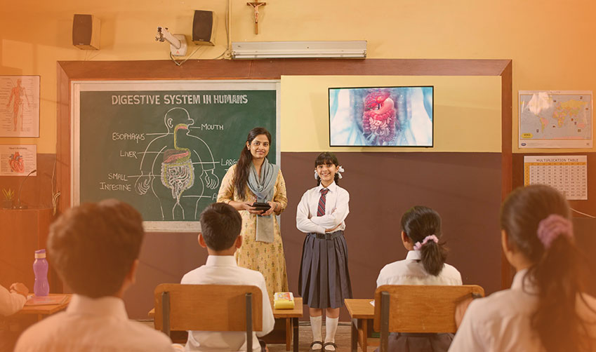 Smart class in schools, a comprehensive solution