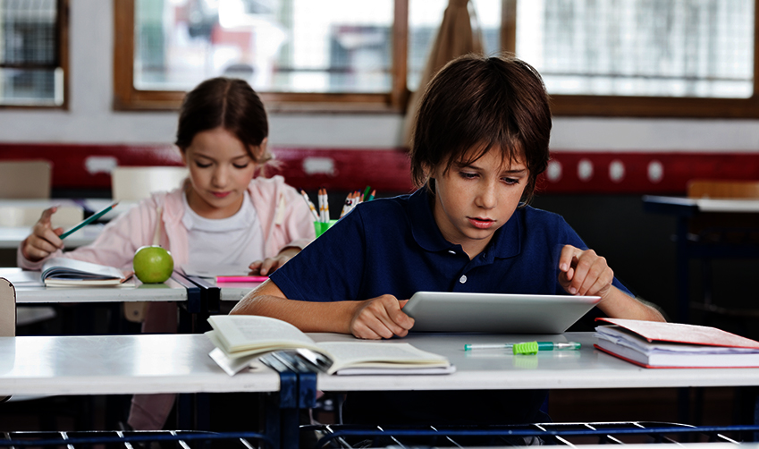 Classroom management system helps children stay focused on studying